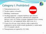 category i prohibited