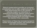 benefits of a preservation ordinance