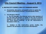 city council meeting august 6 201310