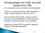 disadvantages for fully insured quote from tml