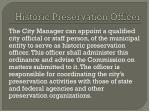 historic preservation officer