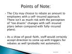 points of note