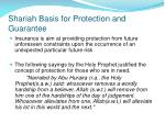 shariah basis for protection and guarantee