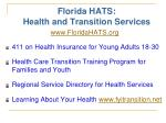 florida hats health and transition services