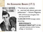 an economic boom 17 1
