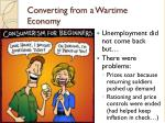 converting from a wartime economy