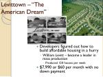levittown the american dream