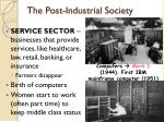 the post industrial society
