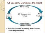 us economy dominates the world