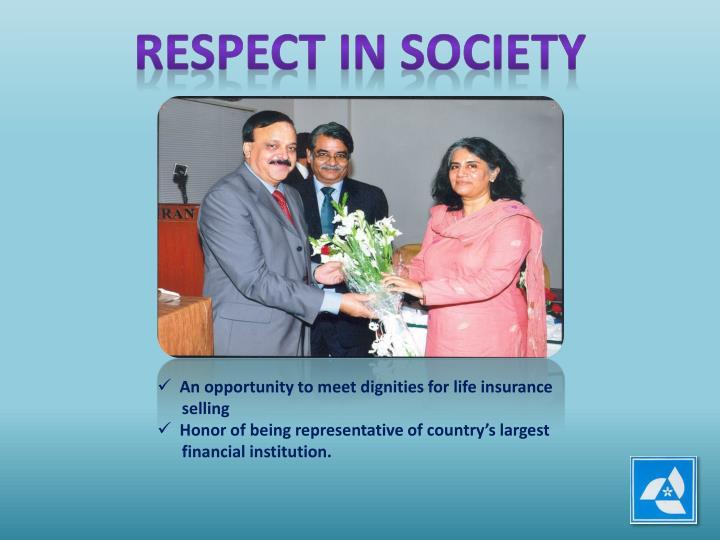 RESPECT IN SOCIETY