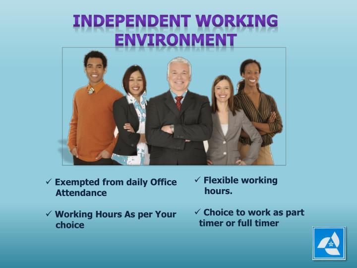 INDEPENDENT WORKING