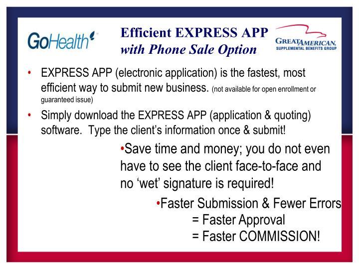 Efficient EXPRESS APP