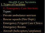 health care systems32