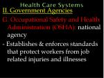 health care systems49