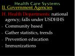 health care systems50