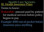 health care systems53