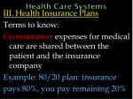 health care systems54