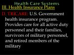 health care systems62