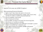 pre cost the cycle menu