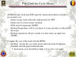 pre cost the cycle menu1
