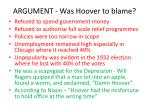 argument was hoover to blame
