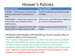 hoover s policies