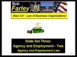 slide set three agency and employment two agency and employment law