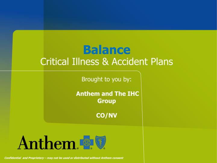 balance critical illness accident plans n.