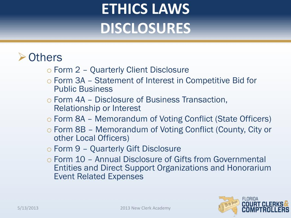 PPT - Ethics for Florida Government Employees PowerPoint
