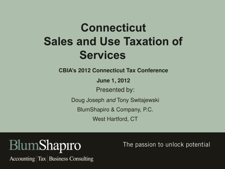 connecticut sales and use taxation of services n.