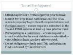 travel pre approval