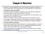 copper in myanmar