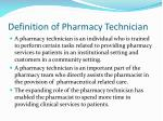 definition of pharmacy technician