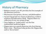 history of pharmacy