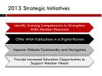 2013 strategic initiatives