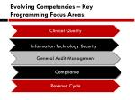 evolving competencies key programming focus areas