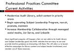 professional practices committee current activities