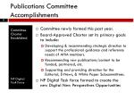 publications committee accomplishments