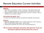remote education current activities