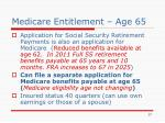 medicare entitlement age 65