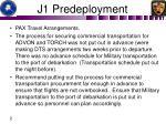 j1 predeployment