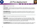 j3 pre deployment