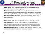 j4 predeployment