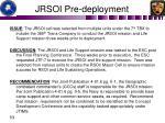 jrsoi pre deployment