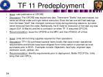 tf 11 predeployment