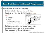 bank participation in financial conglomerates1