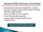 national rqs advisory committee