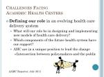 challenges facing academic health centers3