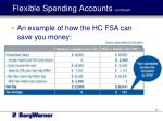 flexible spending accounts continued