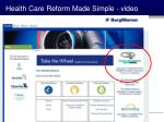 health care reform made simple video